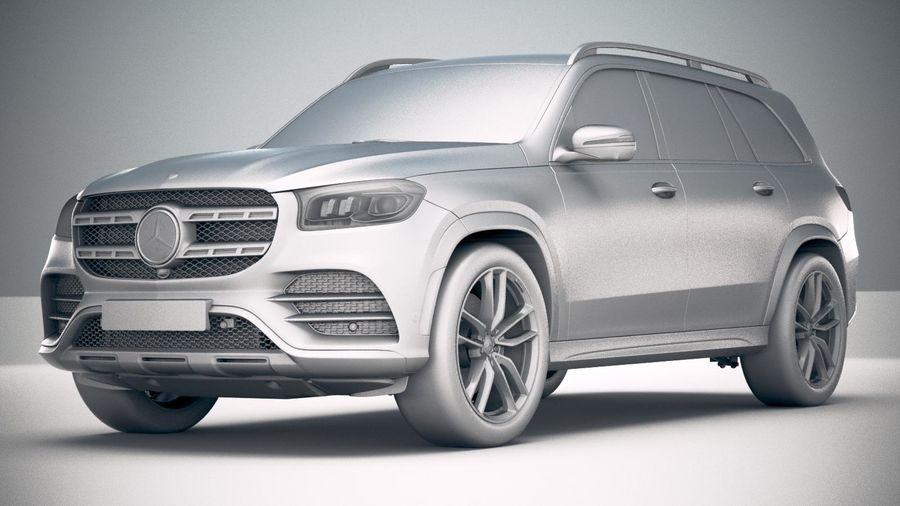 Mercedes-Benz GLS 2020 royalty-free 3d model - Preview no. 23