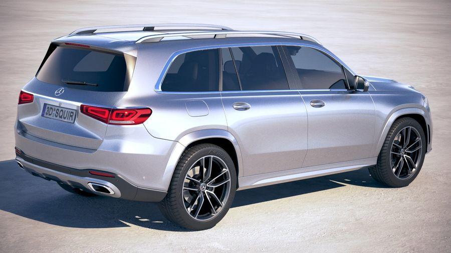 Mercedes-Benz GLS 2020 royalty-free 3d model - Preview no. 5