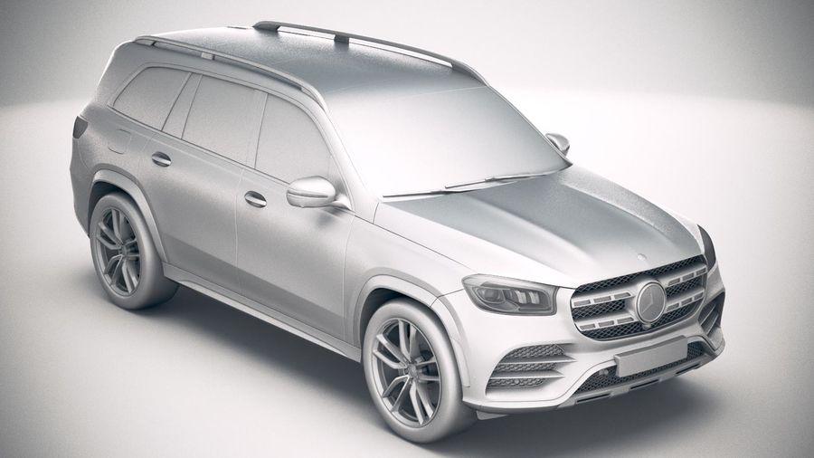 Mercedes-Benz GLS 2020 royalty-free 3d model - Preview no. 22
