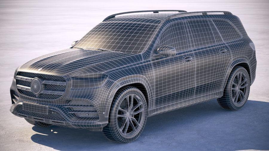 Mercedes-Benz GLS 2020 royalty-free 3d model - Preview no. 27