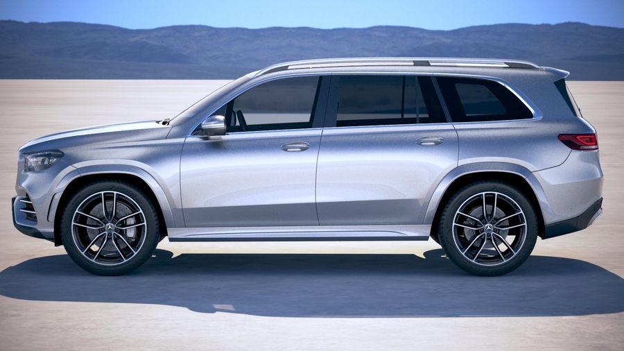 Mercedes-Benz GLS 2020 royalty-free 3d model - Preview no. 7