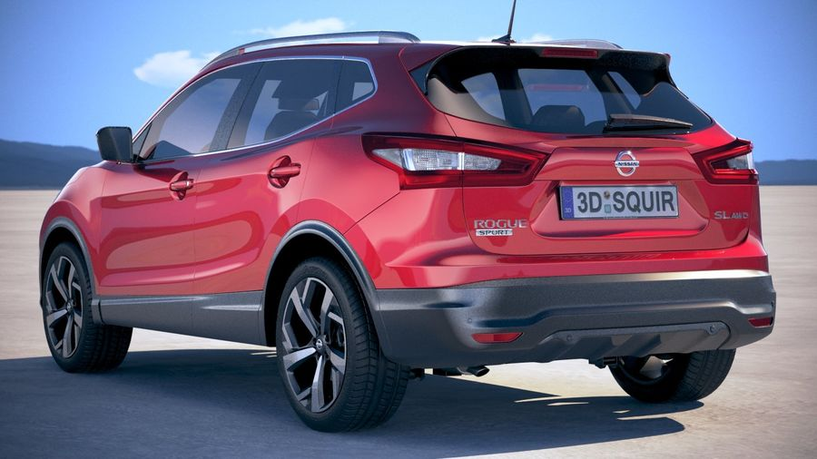 Nissan Rogue Sport 2020 royalty-free 3d model - Preview no. 14