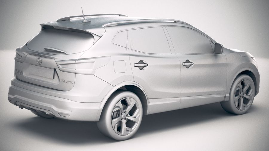 Nissan Rogue Sport 2020 royalty-free 3d model - Preview no. 21