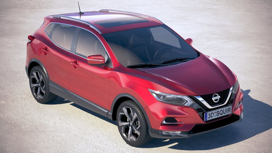 Nissan Rogue Sport 2020 royalty-free 3d model - Preview no. 12