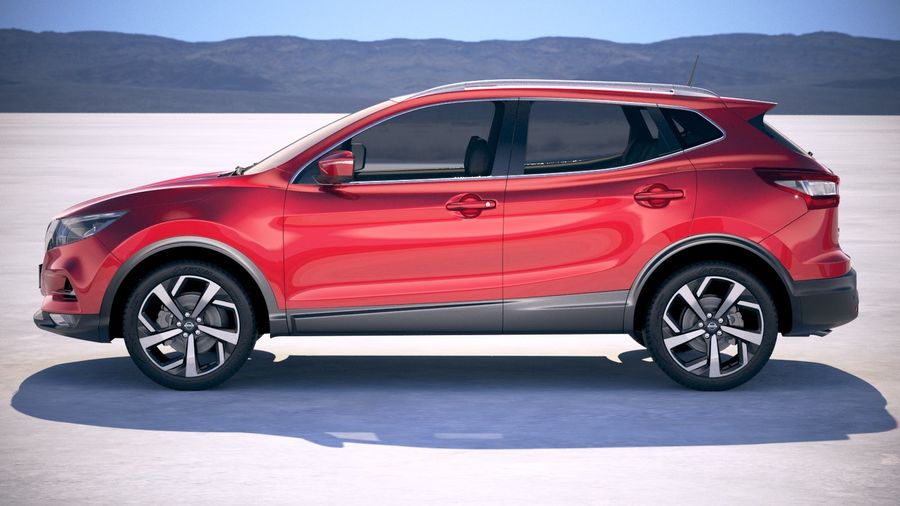 Nissan Rogue Sport 2020 royalty-free 3d model - Preview no. 7