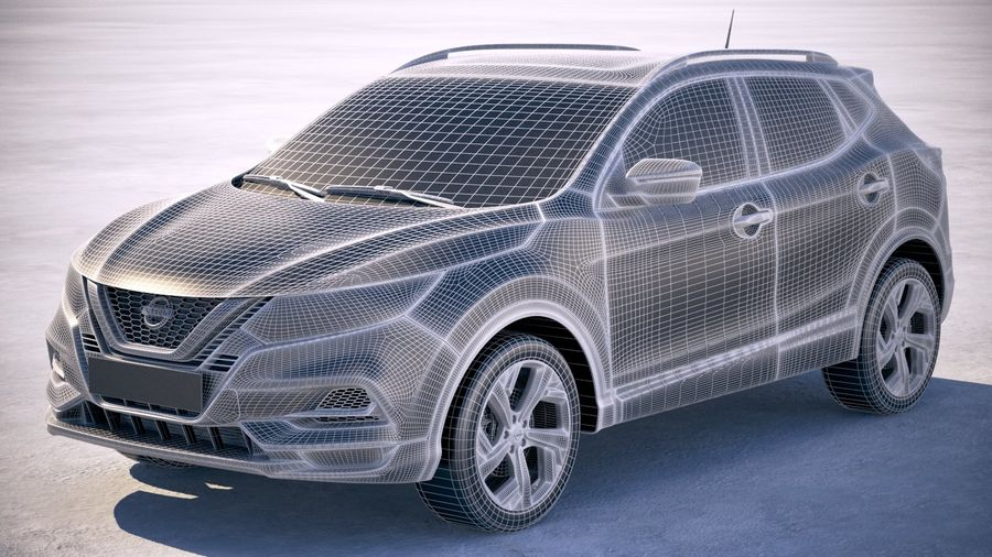 Nissan Rogue Sport 2020 royalty-free 3d model - Preview no. 25