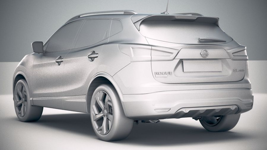 Nissan Rogue Sport 2020 royalty-free 3d model - Preview no. 24