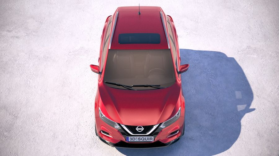 Nissan Rogue Sport 2020 royalty-free 3d model - Preview no. 9