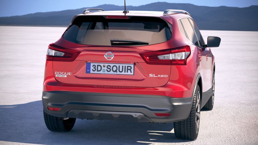 Nissan Rogue Sport 2020 royalty-free 3d model - Preview no. 6