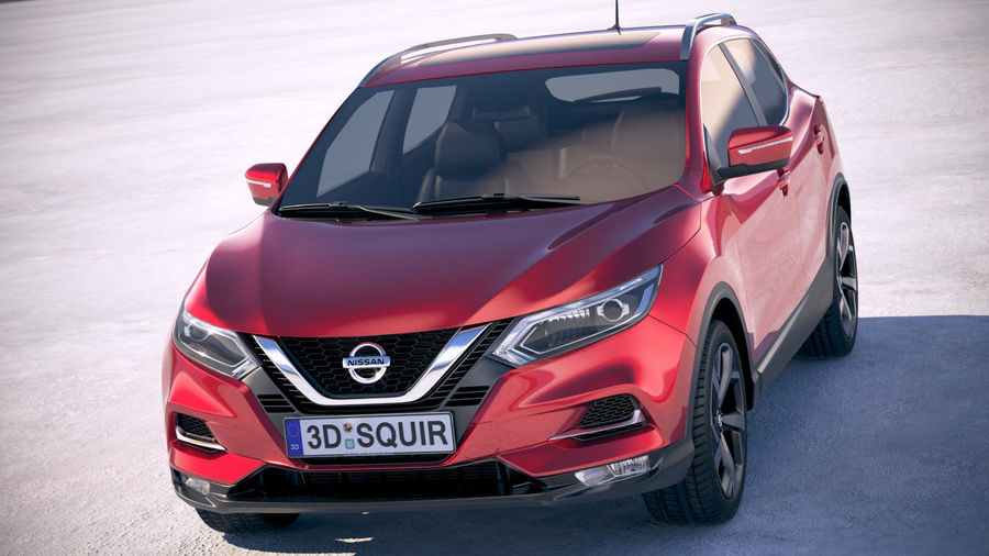 Nissan Rogue Sport 2020 royalty-free 3d model - Preview no. 2