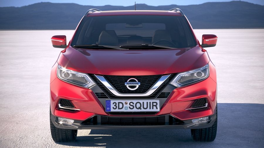 Nissan Rogue Sport 2020 royalty-free 3d model - Preview no. 10