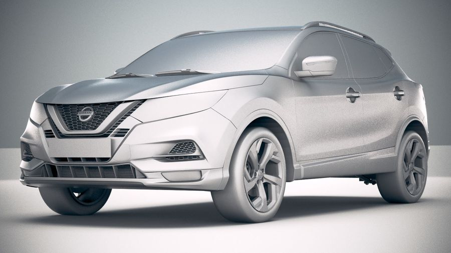 Nissan Rogue Sport 2020 royalty-free 3d model - Preview no. 23