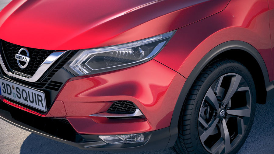 Nissan Rogue Sport 2020 royalty-free 3d model - Preview no. 3