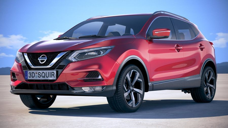 Nissan Rogue Sport 2020 royalty-free 3d model - Preview no. 13