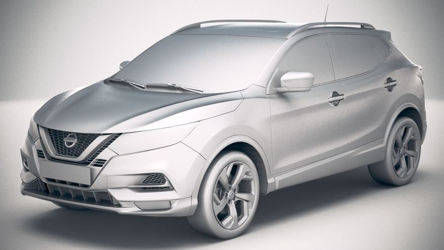 Nissan Rogue Sport 2020 royalty-free 3d model - Preview no. 18
