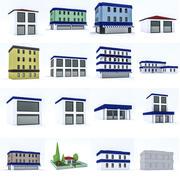 Pacote de desenhos animados dos desenhos animados 3d model