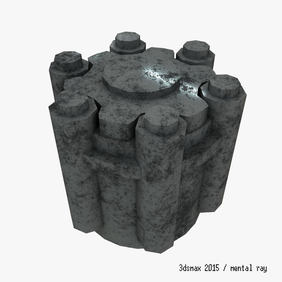 六螺杆格力发动机零件 royalty-free 3d model - Preview no. 7