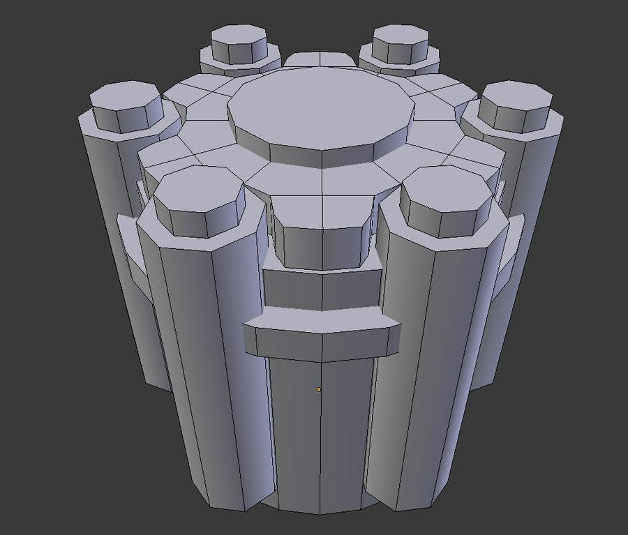 六螺杆格力发动机零件 royalty-free 3d model - Preview no. 5