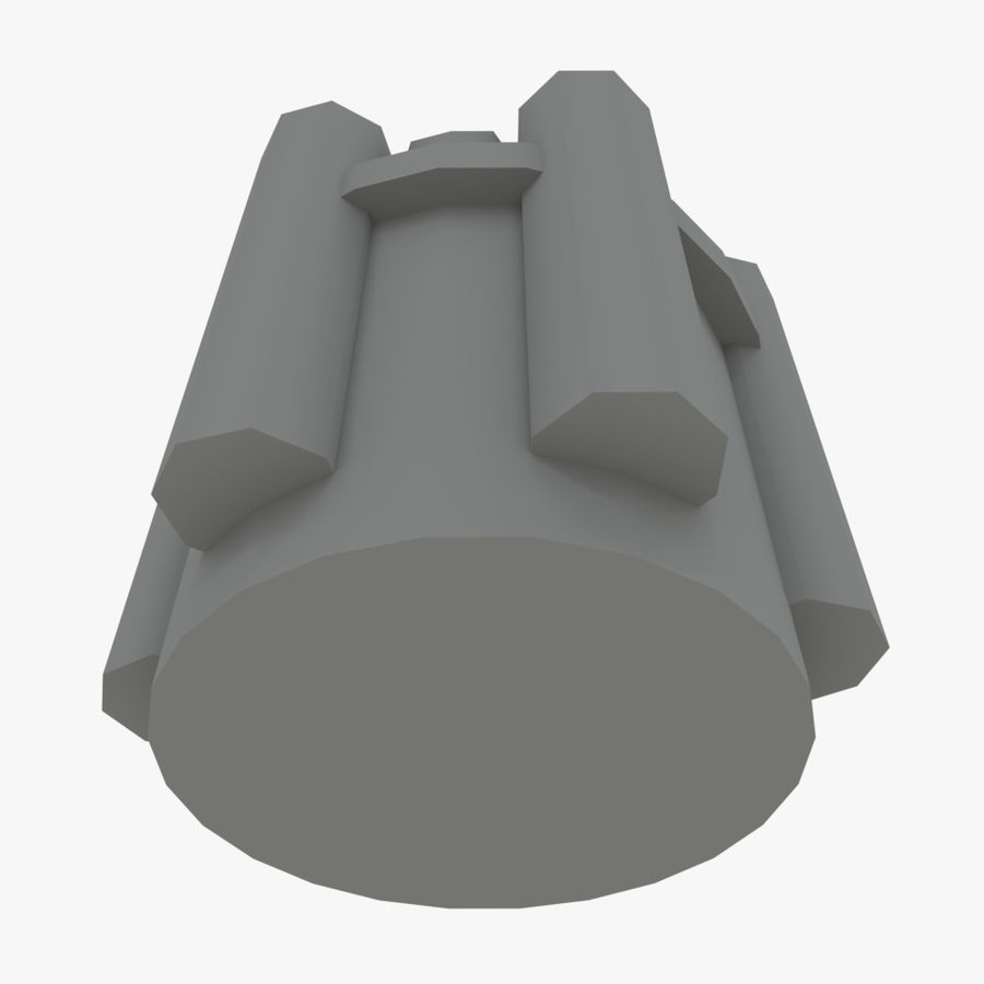 六螺杆格力发动机零件 royalty-free 3d model - Preview no. 4