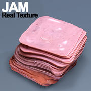 Jam with texture HD 3d model