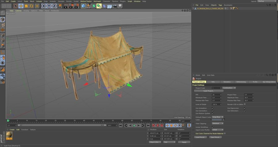 Tente royalty-free 3d model - Preview no. 21