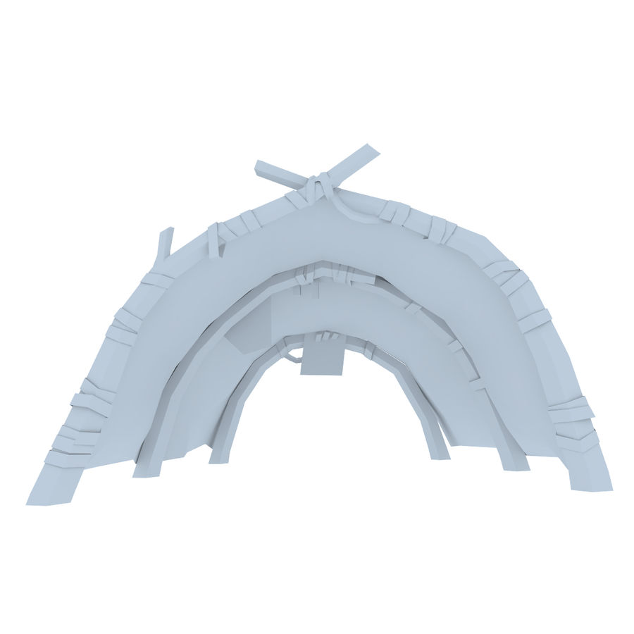 Tent royalty-free 3d model - Preview no. 11