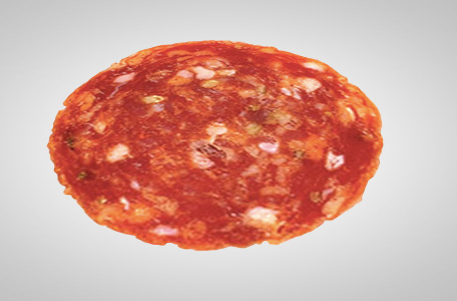 tranche de pepperoni royalty-free 3d model - Preview no. 1