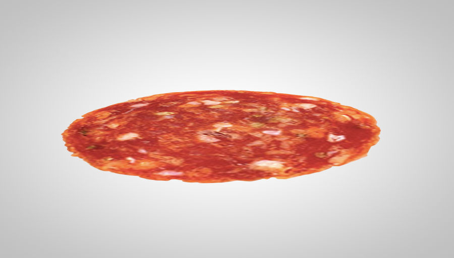 tranche de pepperoni royalty-free 3d model - Preview no. 3