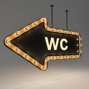 Żarówka Loft Oznakowanie WC 3d model