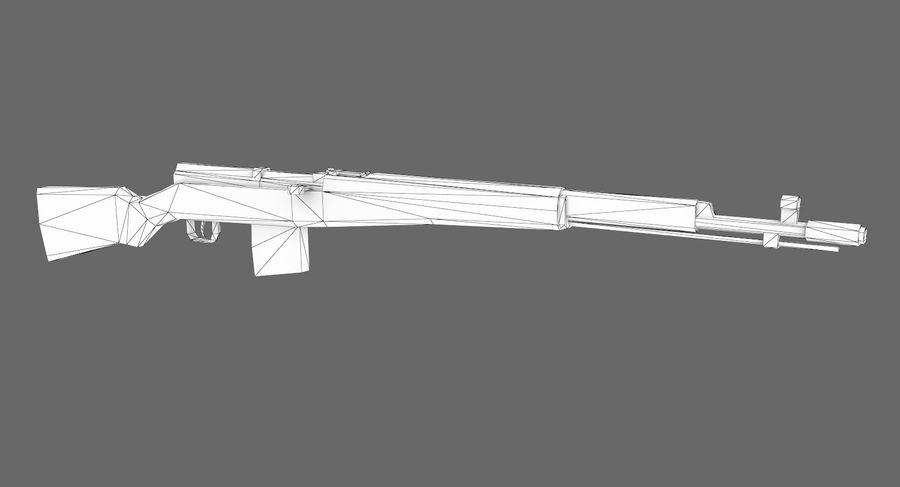 SVT-40 royalty-free 3d model - Preview no. 7