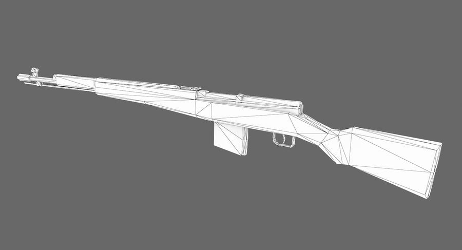 SVT-40 royalty-free 3d model - Preview no. 11