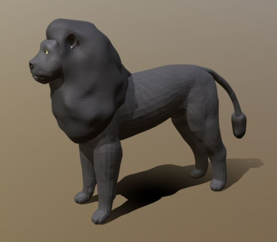 Dark Lion Mesh royalty-free 3d model - Preview no. 1