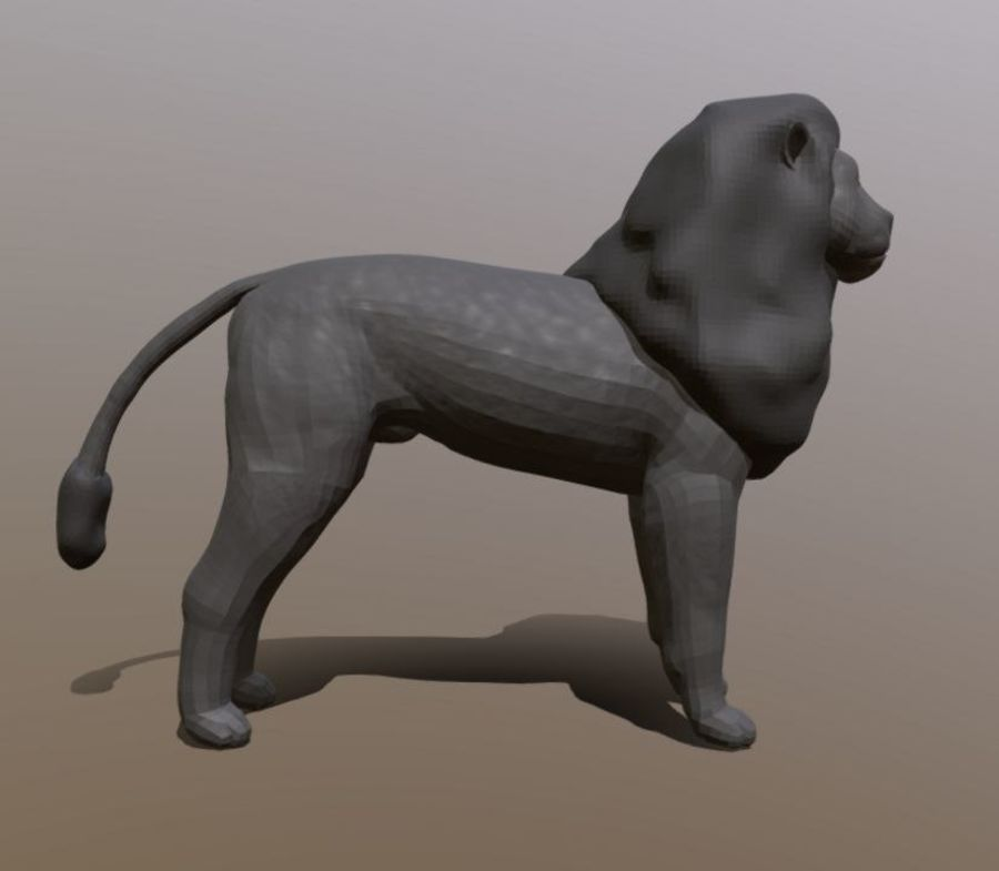 Dark Lion Mesh royalty-free 3d model - Preview no. 4