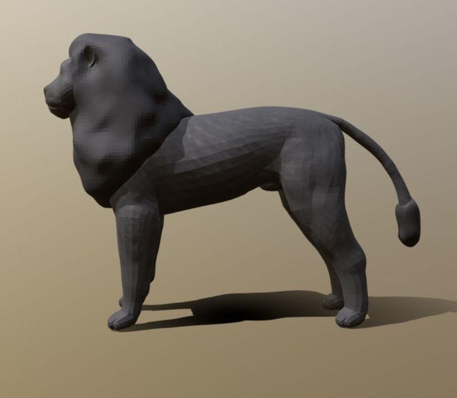 Dark Lion Mesh royalty-free 3d model - Preview no. 3