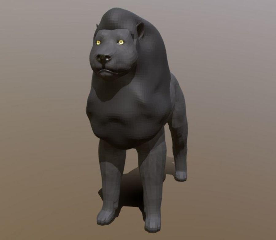 Dark Lion Mesh royalty-free 3d model - Preview no. 2