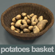 Potatoes basket HD 3d model