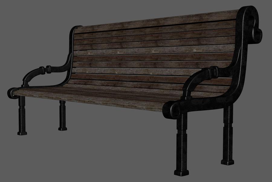 Скамейке в парке royalty-free 3d model - Preview no. 5