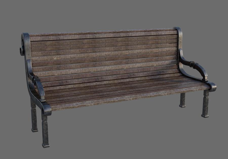 Скамейке в парке royalty-free 3d model - Preview no. 2