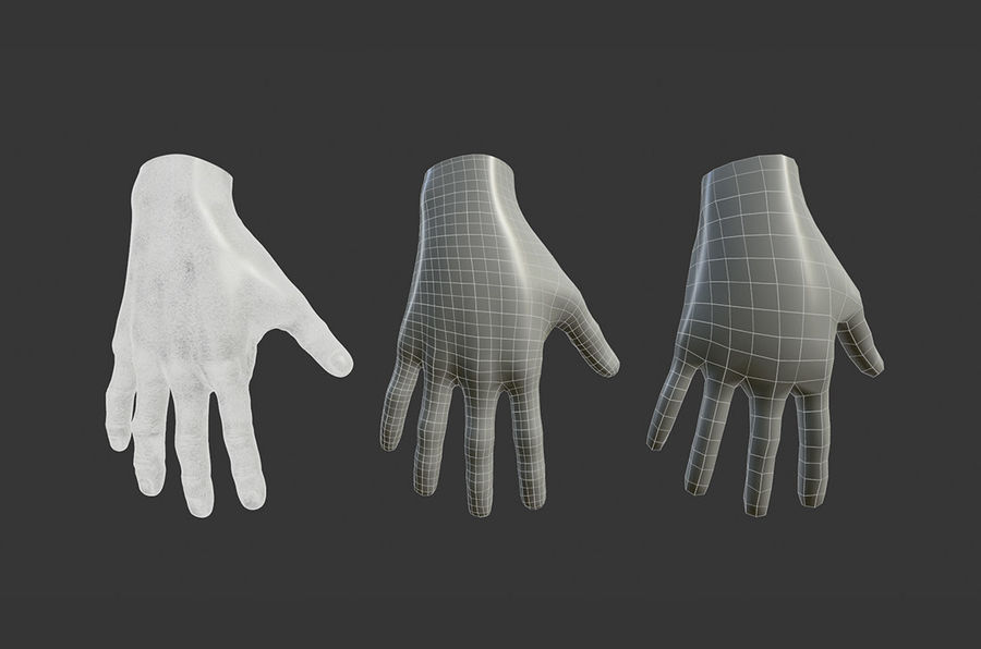 Female Hand 3D model royalty-free 3d model - Preview no. 3