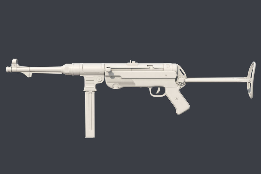 MP 40 royalty-free 3d model - Preview no. 2