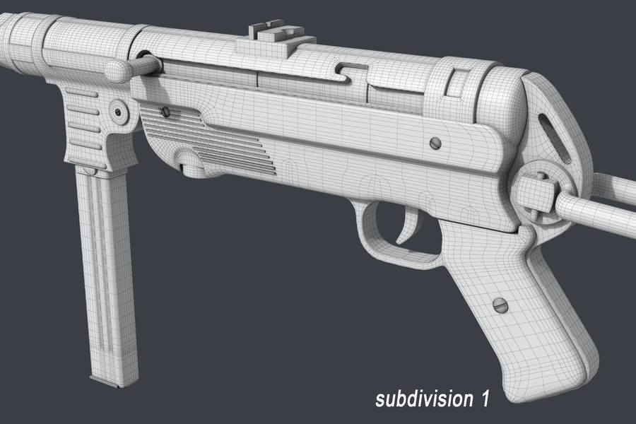 MP 40 royalty-free 3d model - Preview no. 11
