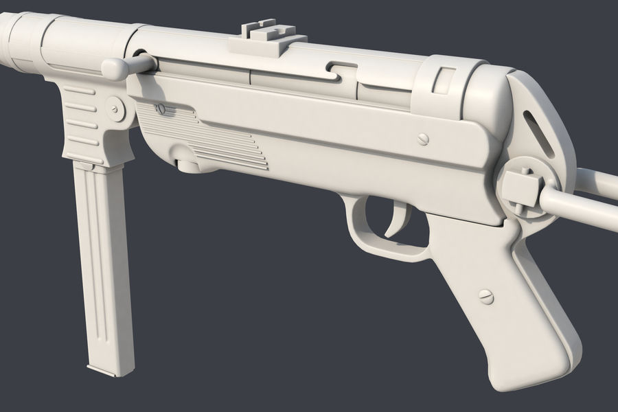 MP 40 royalty-free 3d model - Preview no. 5