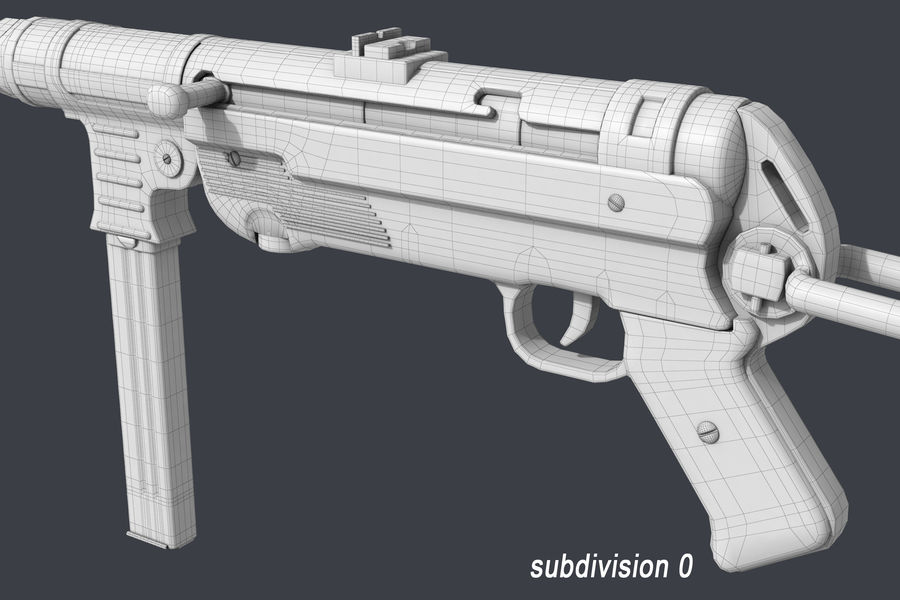 MP 40 royalty-free 3d model - Preview no. 10