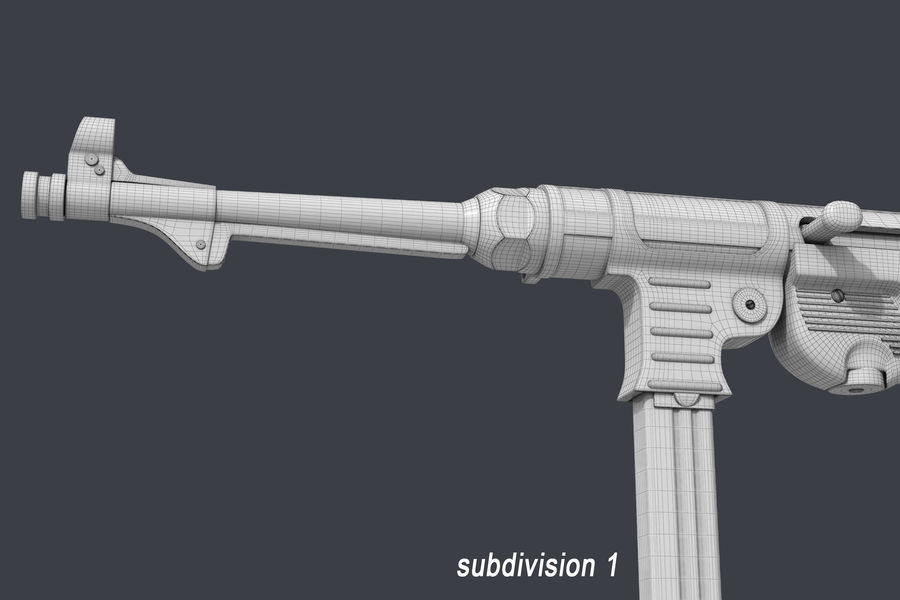 MP 40 royalty-free 3d model - Preview no. 9