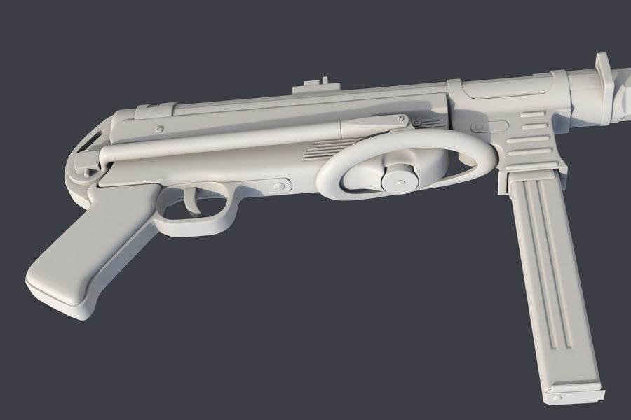 MP 40 royalty-free 3d model - Preview no. 7