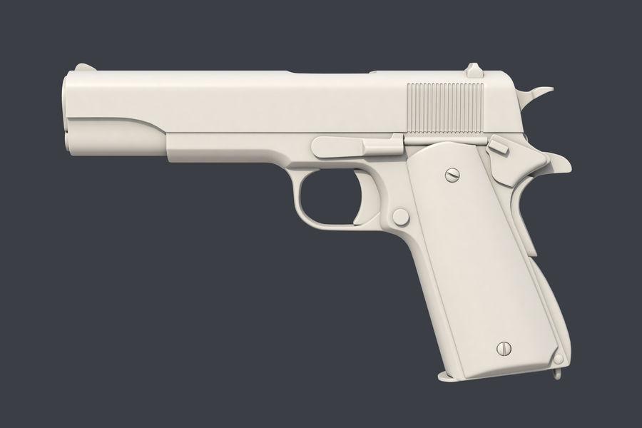Colt M1911 royalty-free 3d model - Preview no. 2