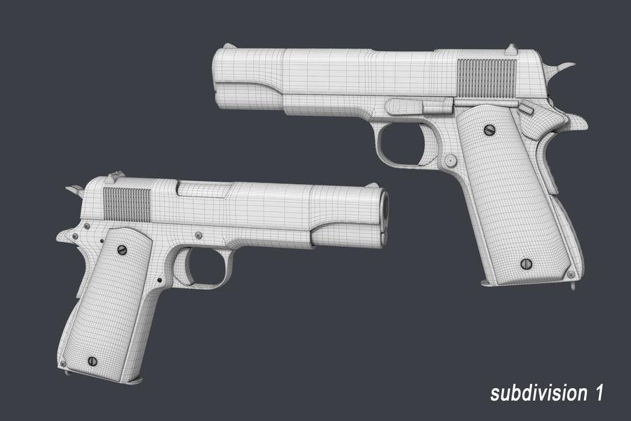 Colt M1911 royalty-free 3d model - Preview no. 7