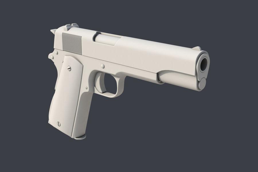 Colt M1911 royalty-free 3d model - Preview no. 3