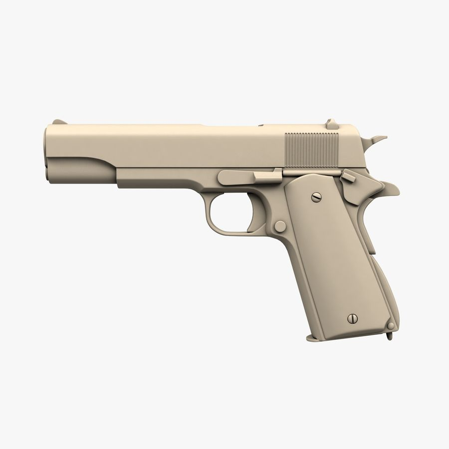 Colt M1911 royalty-free 3d model - Preview no. 1