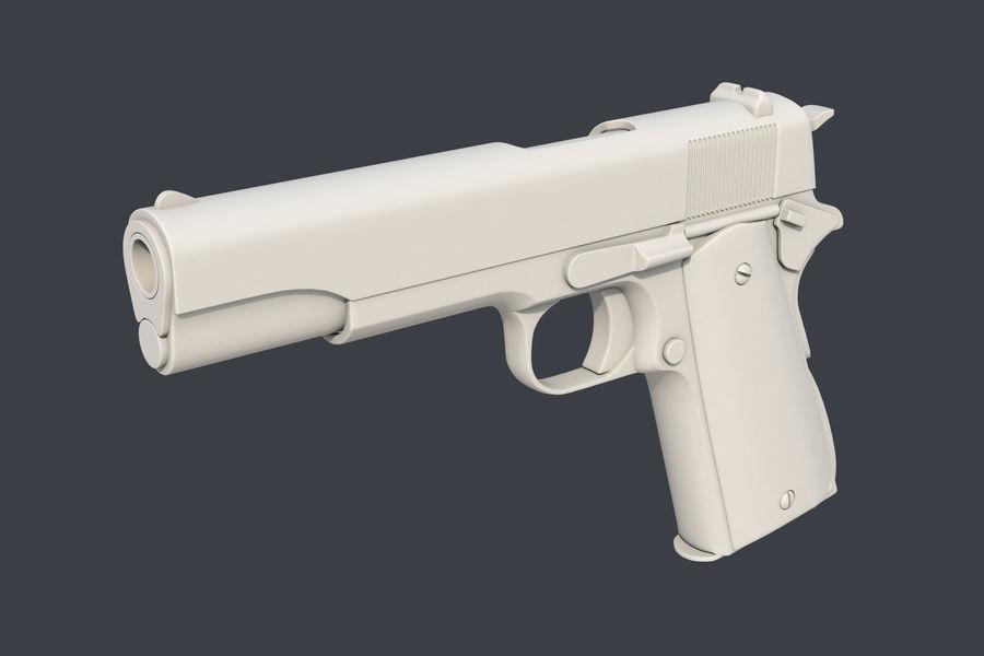 Colt M1911 royalty-free 3d model - Preview no. 4